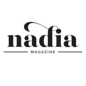 Nadia Magazine logo, black text